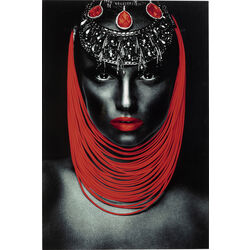 Picture Glass Lady Lips Red 80x120cm