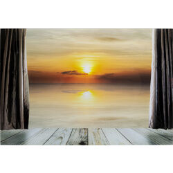 Picture Glass View Sunset 120x80