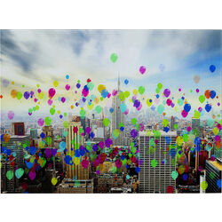 Picture Glass Colourful Balloons 80x60