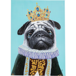 Picture Touched Dog Big King 70x50