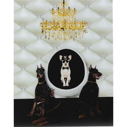 Picture Glass Doberman Bodyguards 60x80