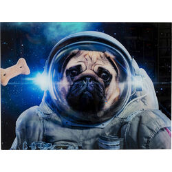 Picture Glass Dog in Space 80x60