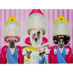 Picture Glass Dogs Day Salon 80x60