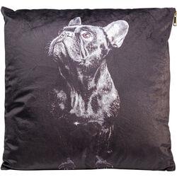 Cushion Looking Up Dog Black 45x45
