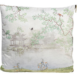 Cushion Chinese Garden White 45x45
