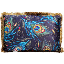 Cushion Peacock Feather Blue 40x60