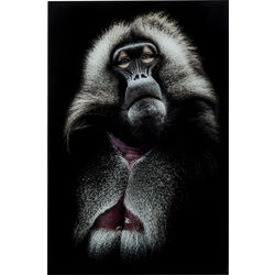 Picture Glass Grandfather Baboon 120x80