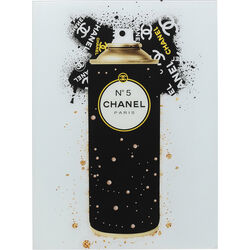 Picture Glass Coco Gold Spray 60x80