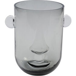 Vase Small Face Grau