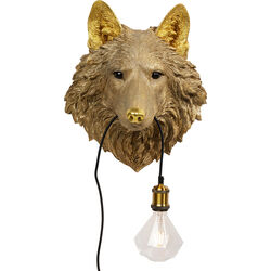 Wall Lamp Animal Wolf Head