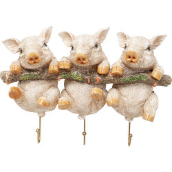 Wall Hooks Three Mini Pigs
