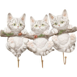 Wall Hooks Three Mini Cats