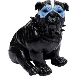Money Box Blue Mask Bulldog Black
