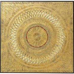 Object Picture Art Geometric Circle Gold 120x120cm