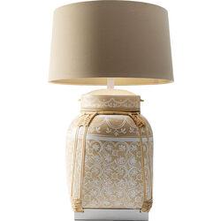 Table Lamp Basket Cream