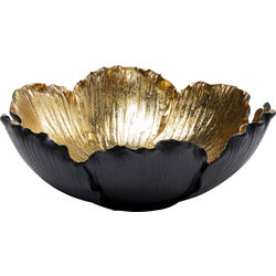 Deco Bowl Flower Bloom Black Gold Ø25
