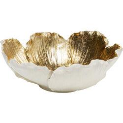 Deco Bowl Flower Bloom Cream Gold Ø25
