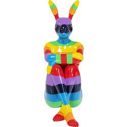 Deco Figurine Sitting Rabbit Rainbow 203cm