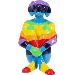 Deco Figurine Sitting Dog Rainbow 173cm