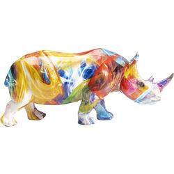 Figura deco Colored Rhino