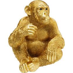 Deco Figurine Baby Ape Gold 53
