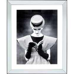 Framed Picture Reading Beauty 85x105cm