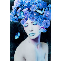 Glass Picture Blue Queen 80x120