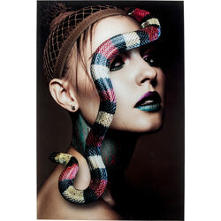 Glass Picture Snake Girl 80x120