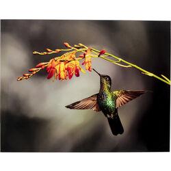 Glass Picture Cute Colibri 90x70