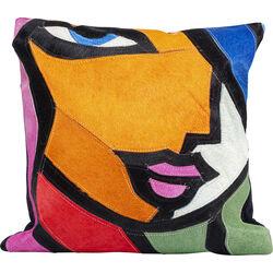 Cushion Abstract Lady Face 40x40cm