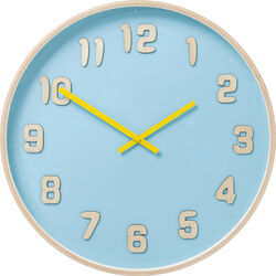 Wall Clock Nature Colore Light Blue