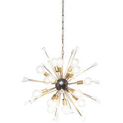 Pendant Lamp Crystal Bomb Brass Ø93cm