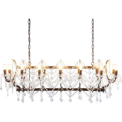 Pendant Lamp Chateau Crystal Rusty