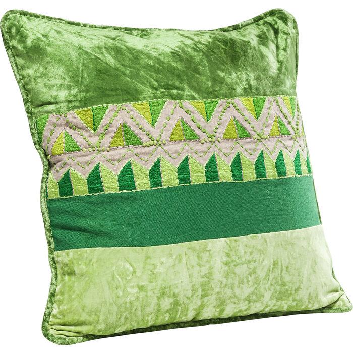kissen green ornaments 45x45cm kare design. Black Bedroom Furniture Sets. Home Design Ideas