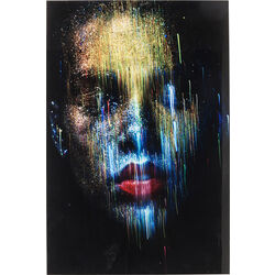 Picture Glass Face the World Front 120x80cm