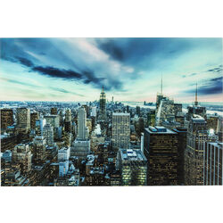 Picture Glass New York Sunset  120x160cm