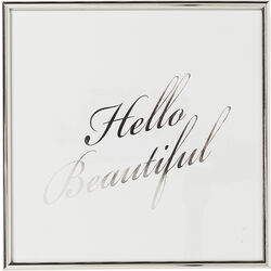 Picture Frame Hello Beautiful 27x27cm
