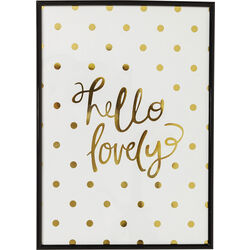 Picture Frame Hello Lovely 42x30cm