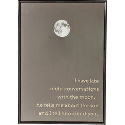 Picture Frame Moon 41x29cm