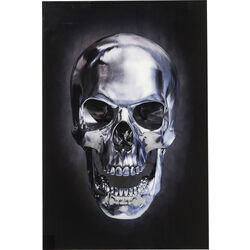 Picture Glass Skull 120x80cm