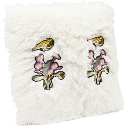 Cushion Fur Birds Flower 40x40cm