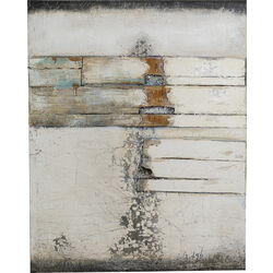 Acrylic Painting Abstract Grey Line Two 150x120cm