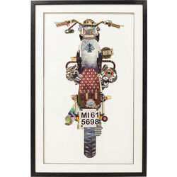Picture Frame Art Motorbike 107x69cm