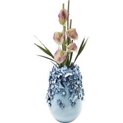 Vase Butterflies Lightblue 35cm