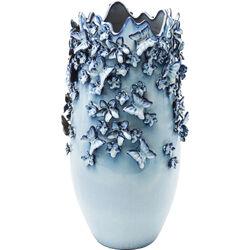Vase Butterflies Lightblue 50cm
