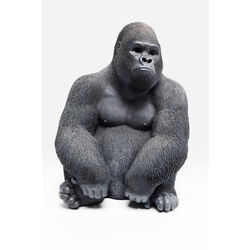 Deco Object Monkey Gorilla Side Medium Black
