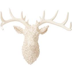 Deco Antler Deer Roses White