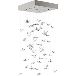 Pendant Lamp Flying Birds Chrome