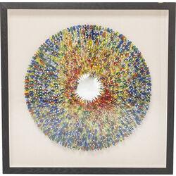 Deco Frame Colour Explosion 120x120cm