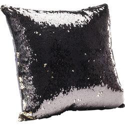 Cushion Pailette Gold - Black 40x40cm